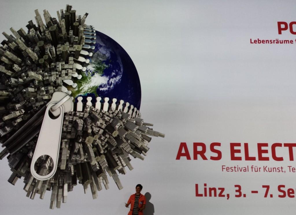 Luca Vivan, travel blogger, eco blogger, Ars Electronica, Linz, Austria, deepspace