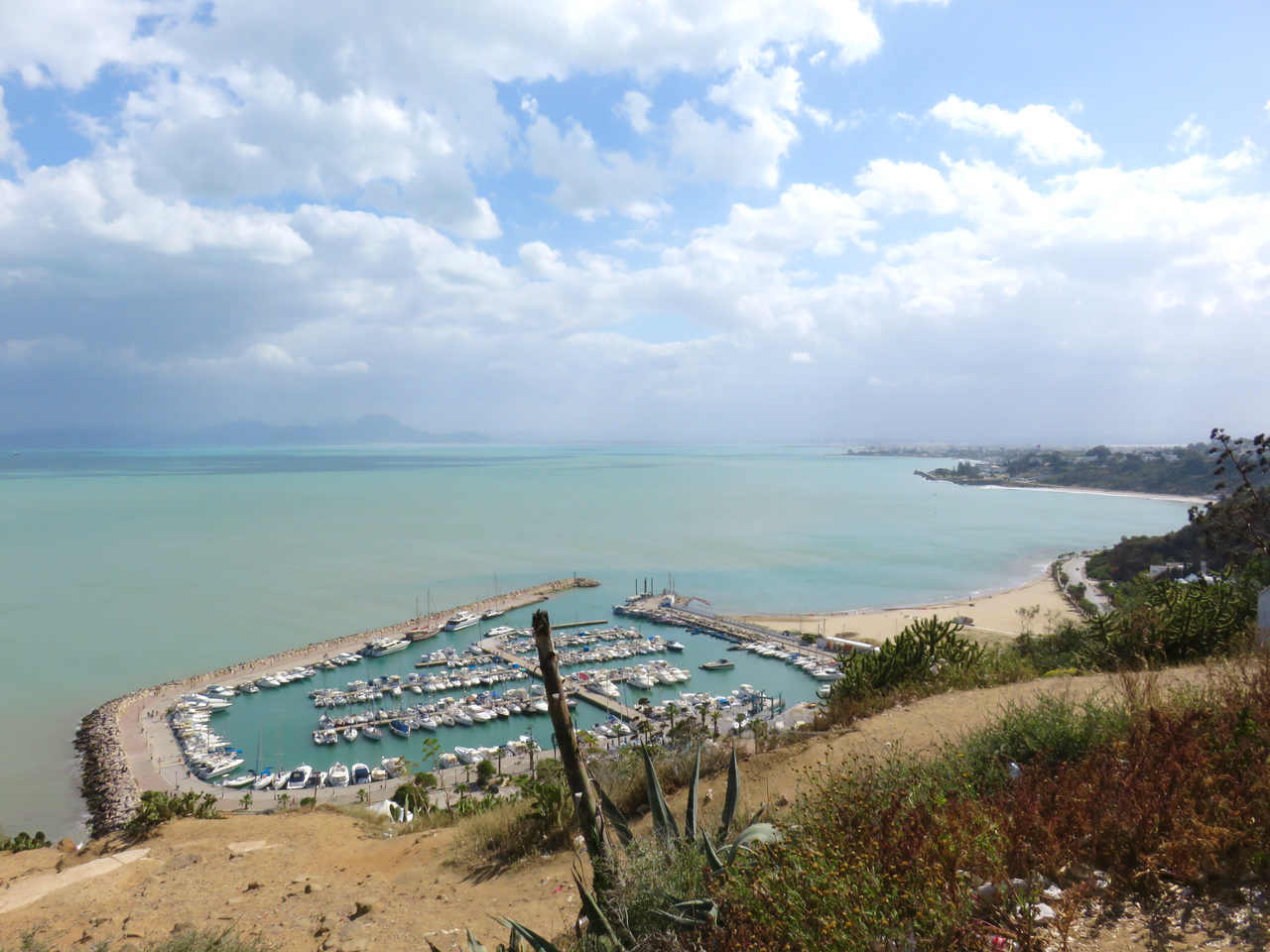 Tunisia, Sidi Bou Said, Mediterraneo