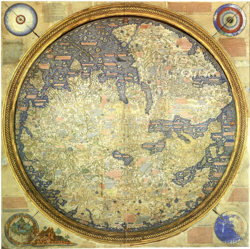 Avventurieri dei mari, Istituto del mondo arabo, Parigi, mappamondo fra mauro