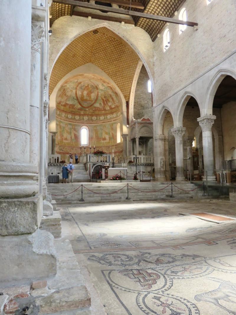 Aquileia, chiesa di Aquileia, Friuli, Friuli Venezia Giulia, viaggio nella notte della chiesa di Aquileia, paleocristiano