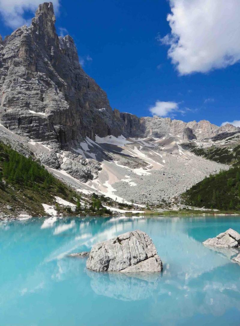 Lago di Sorapis, Dolomiti, Cadore, Italia alps, Belluno
