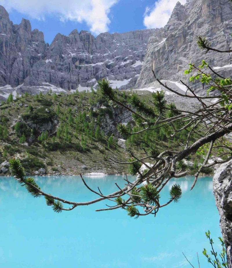 Lago di Sorapis, italian alps, Dolomiti, Cortina, Cadore, Belluno