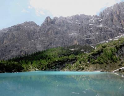 Lago di Sorapis, italian alps, Dolomiti, Cortina, Cadore, Belluno, lago glaciale