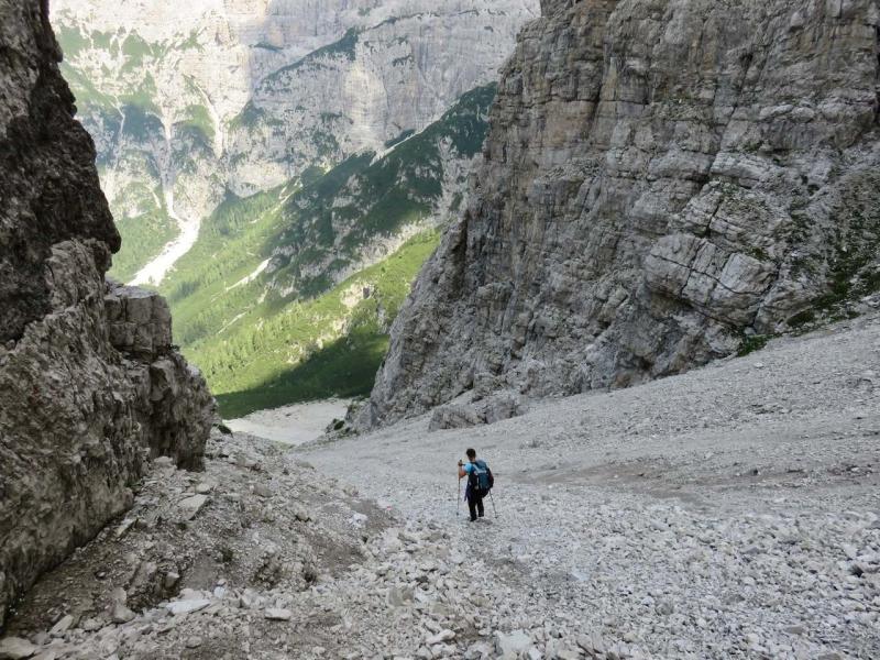 Cadin d'arade, Forcella Montanaia, Dolomiti Friulane, luca Vivan, Veneto