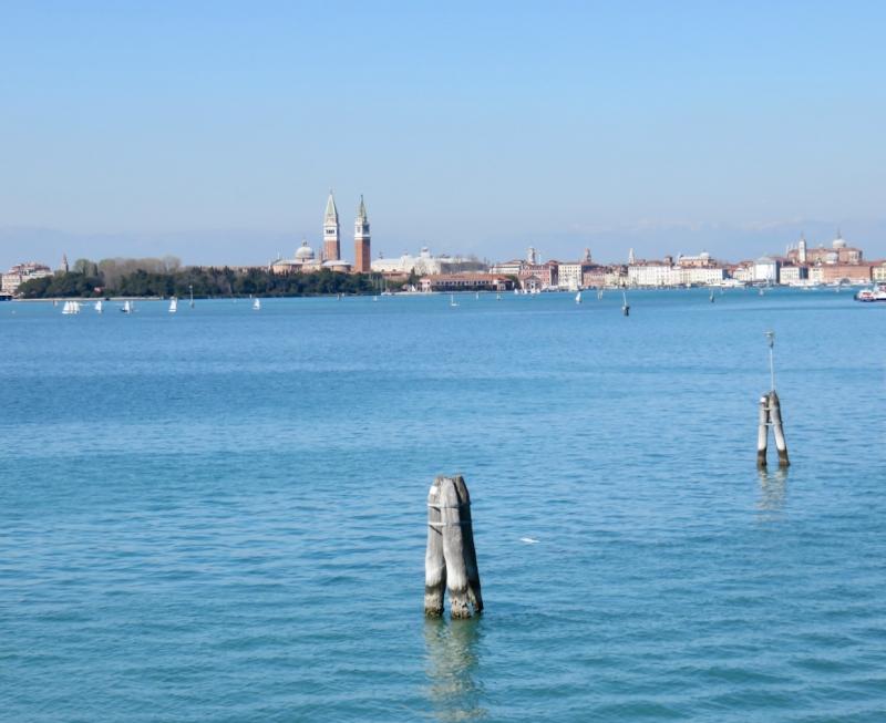 San Lazzaro degli Armeni, vista su Venezia