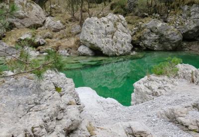pozze smeraldine, Val Tramontina, Friuli Venezia Giulia, riflessi nell'acqua