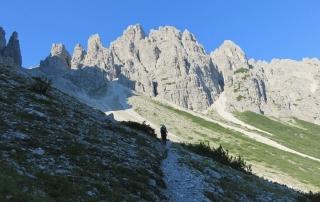 trekking Dolomiti, forcella urtisiel nelle Dolomiti del Friuli