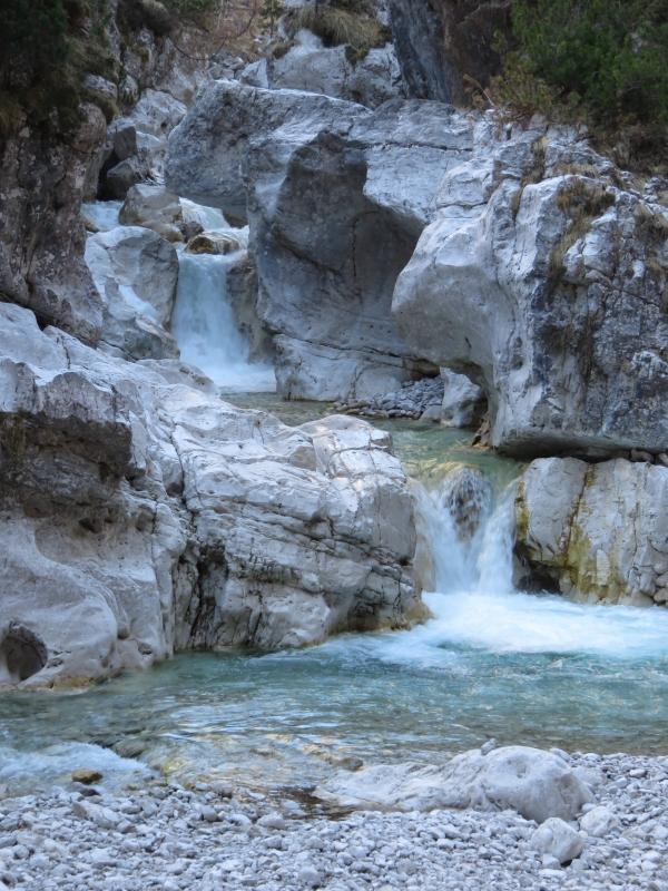 trekking Dolomiti, torrente Cimoliana, Dolomiti del Friuli