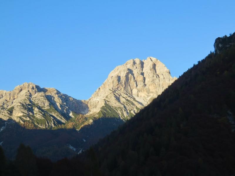 autunno tra le Dolomiti friulane, Monte Duranno verso sera
