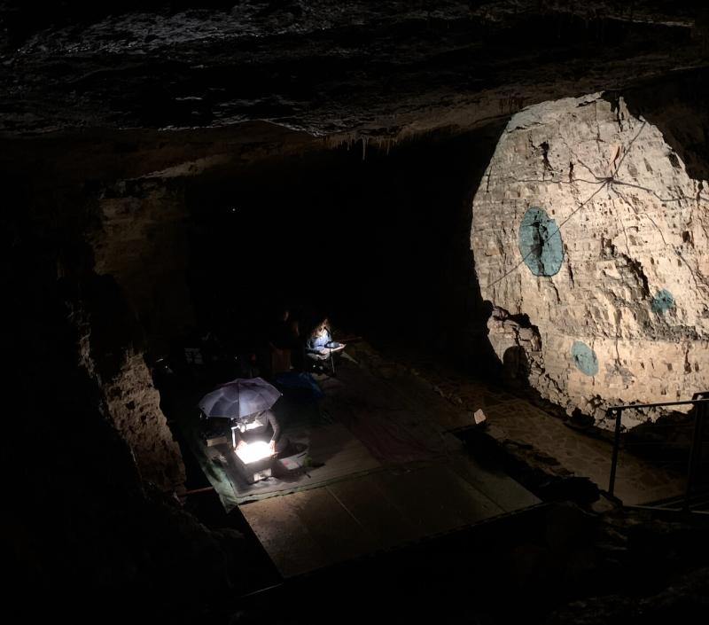 grotta di villanova, performance aritsitica in grotta, jsintapanza