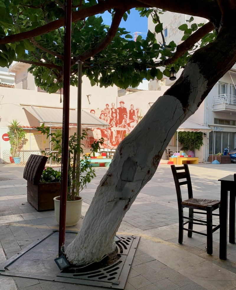 Lakkos kafeneio, kafeneio a Heraklion, Creta autentica