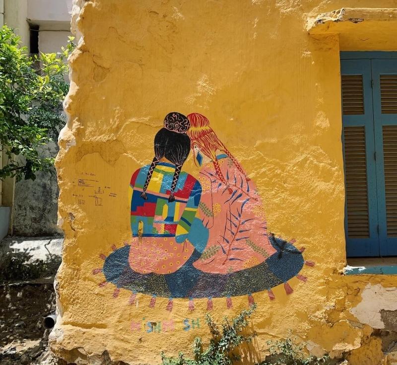 murales Heraklion, Lakkos quartiere di Heraklion, Creta autentica